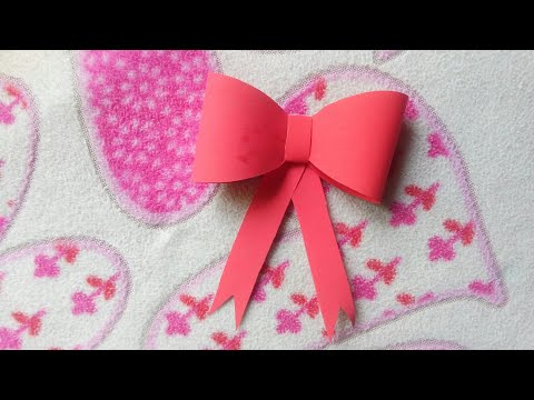 How to make simple and easy paper bow| cute styles| origami bow