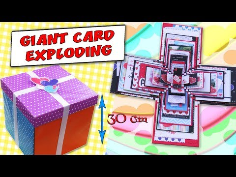 【 CARD MAKING 】🌈 GIANT EXPLODING BOXES CARD -  GIFT IDEA - LOVE CARD | aPasos Crafts DIY