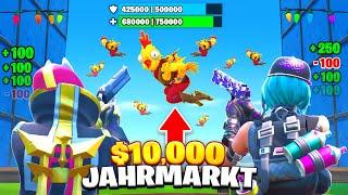 10.000€ JACKPOT im FORTNITE JAHRMARKT Gewonnen!