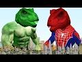 Динозавры Получает Паук Халк Супергероев Тел Замороженных Elsa Против Ядом Бэтмен
