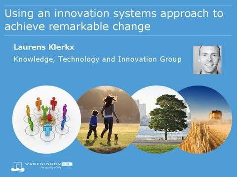 Using an innovation systems approach to achieve remarkable change