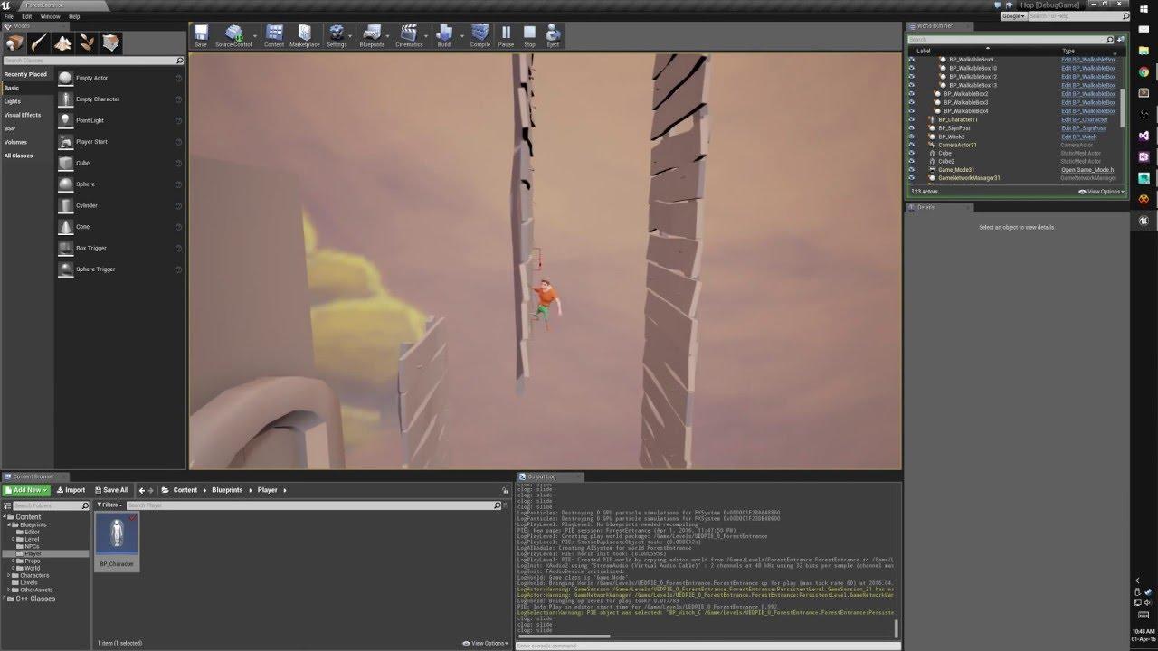 Ledge Grab, Wall Sliding, Wall Jumping (UE4 Game Dev)
