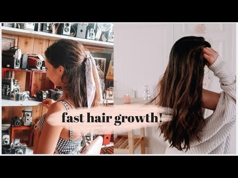 how i grew 10 inches of hair FAST! hair growth tips & hair care routine
