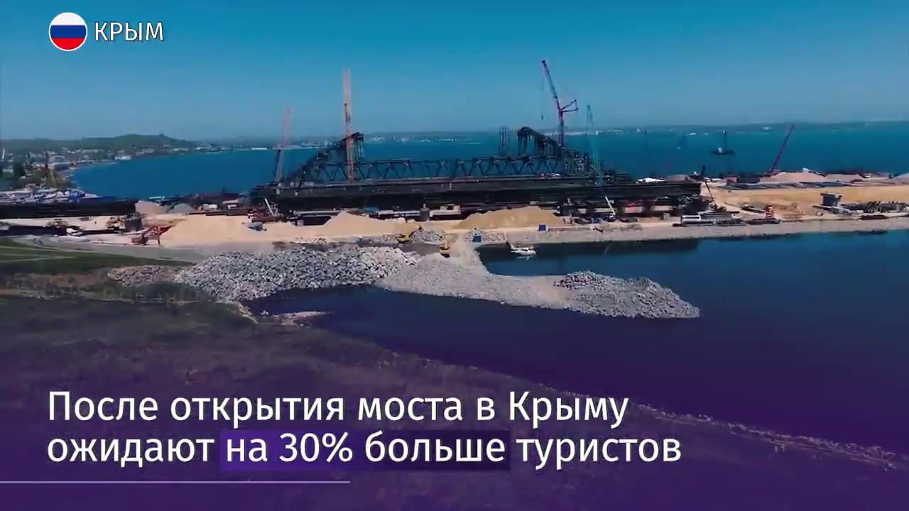 Строители выполнили больше половины работ на Керченском мосту
