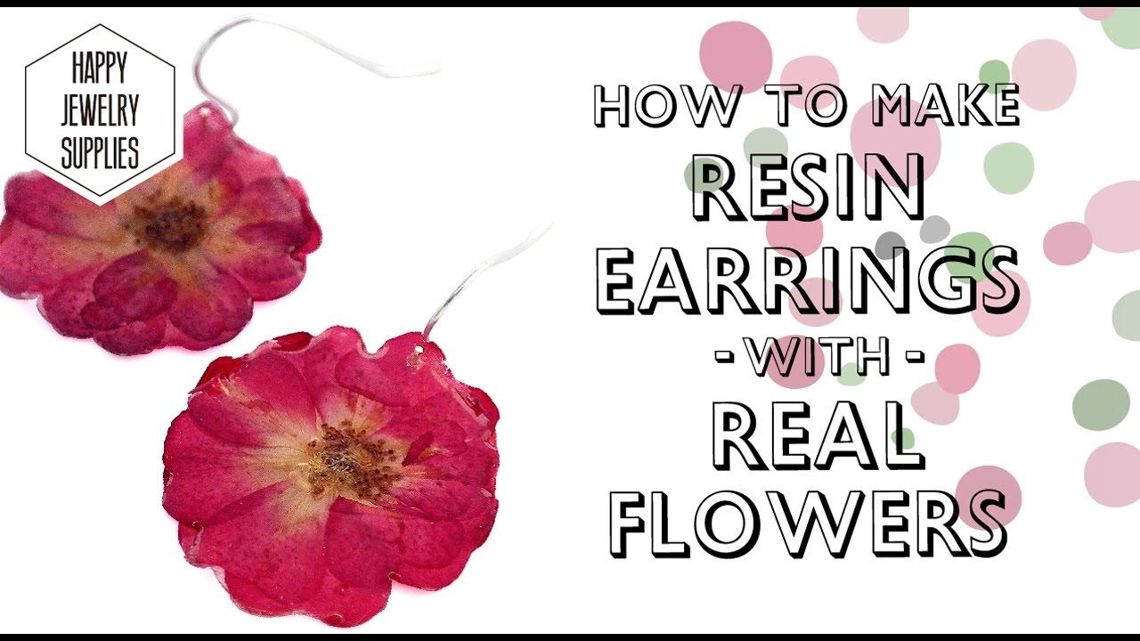 13ab525f9 Easy to make the resin dry flower Earrings! - YouTube