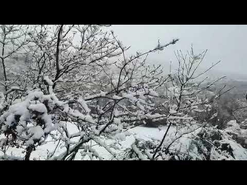 El Monte Faro, nevado en abril