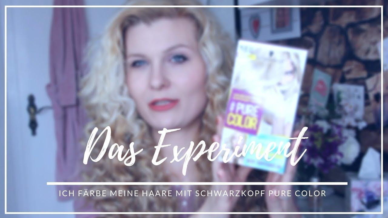 Das Experiment Haare Färben Mit Schwarzkopf Pure Color Mrs