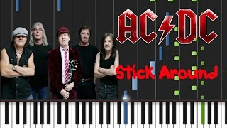 AC/DC - Stick Around Synthesia Tutorial