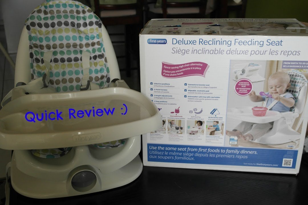 review the first years deluxe reclining feeding seat booster chair & Booster Feeding Chair Reviews. the first years swing tray booster ...