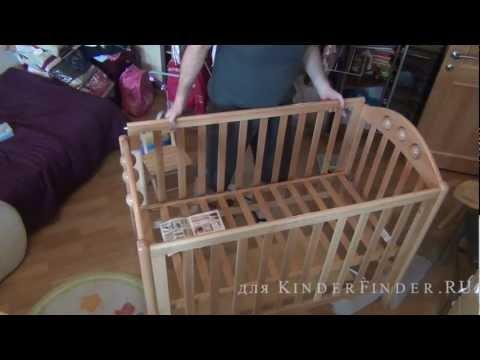 Сборка детской кроватки Лель