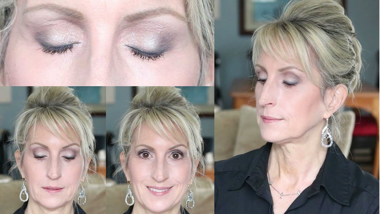 Navy Blue Eyeshadow Tutorial for Mature Eyes - Over 11