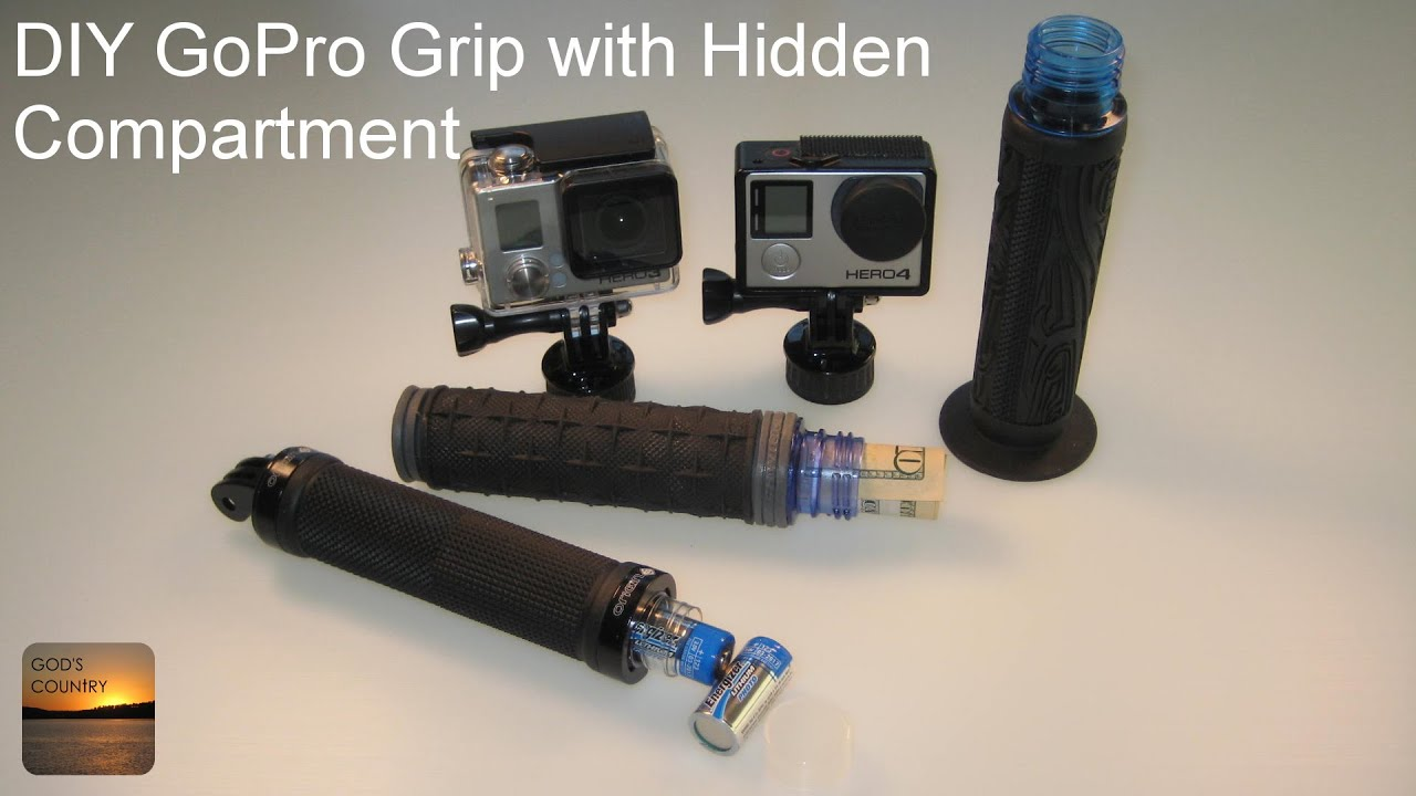 Diy Gopro Handle Grip With Storage Compartment Inside
