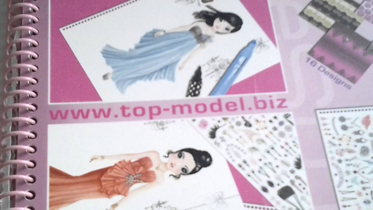 Mon carnet top model et quelque dessin 2 youtube - Top model carnet de dessin ...