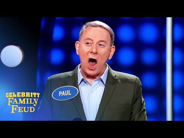 Pee-wee Herman pulls off an amazing steal on Celebrity Family Feud!