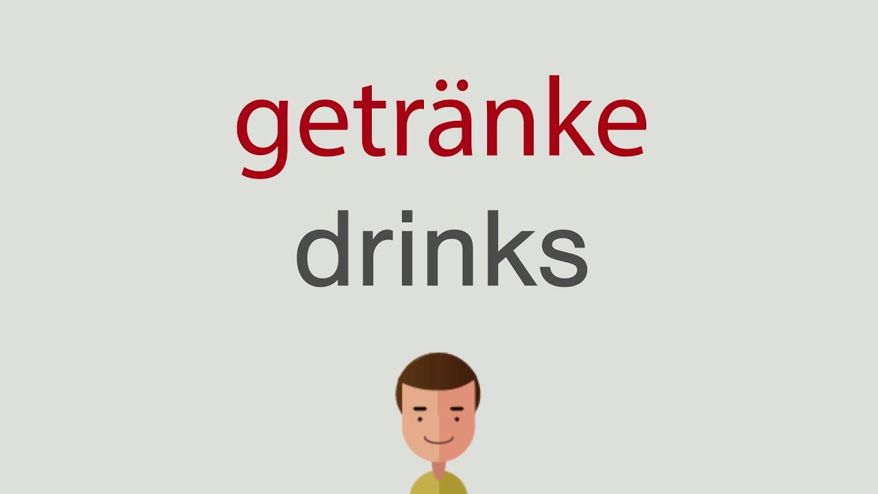 Wie heißt getränke auf englisch - YouTube