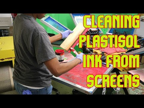 Cleaning Up Plastisol Ink From Screens