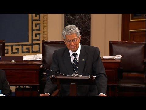 Senator Akaka says ALOHA to the U.S. Senate