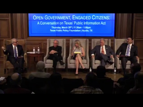 Open Government, Engaged Citizens: A Conversation on Texas' Public Information Act