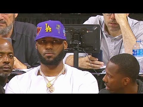 detailed look ce2cd e4924 LeBron James Watches His New Lakers At 2019 Summer League! Lakers vs Bulls