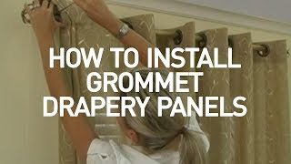 how to install window drapes video grommet drapery panels