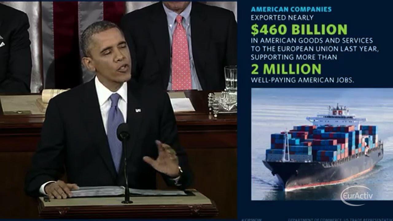 Obama Calls For Us Eu Free Trade Agreement Youtube