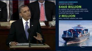 Obama calls for US-EU free trade agreement