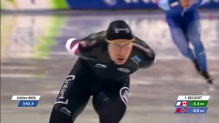 Ted-jan Bloemen 5000m - 6:01.86  World Record  - Wc4 Salt Lake City 2017/2018