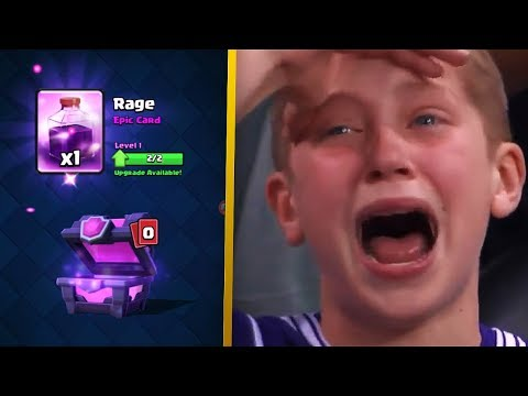 kid cries after unlocking the rage spell in Clash Royale...