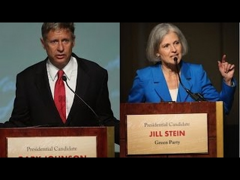 DEBATE: Stein VS Johnson; Democracy Now 2 hr expanded debate
