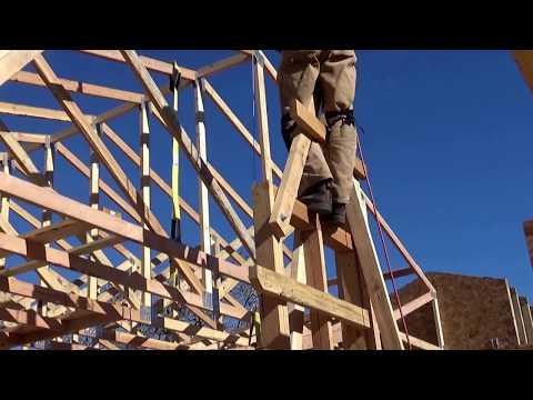 Truss Raising with DIY Crane Using Harbor Freight Winch