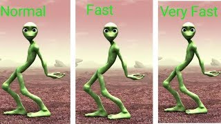 Green alien comedy song