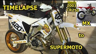 (TIMELAPSE) The Ultimate Two Stroke Supermoto Build