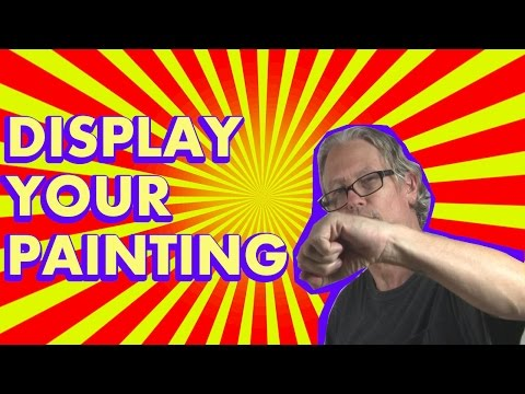 Abstract Acrylic Painting Techniques; Display Your Paintings in Stock Photos