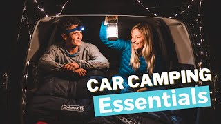 GEAR WE RECOMMEND FΟR CAR CAMPING | WEEKEND CAR CAMPING TRIP PACKING CHECKLIST