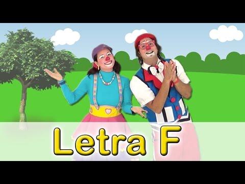 Letra F, abecedario para niños