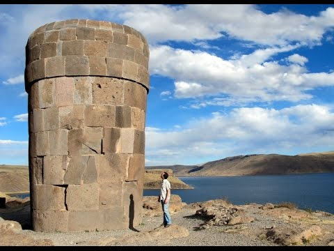 Massive Stone Megalithic Towers Of Sillustani Peru