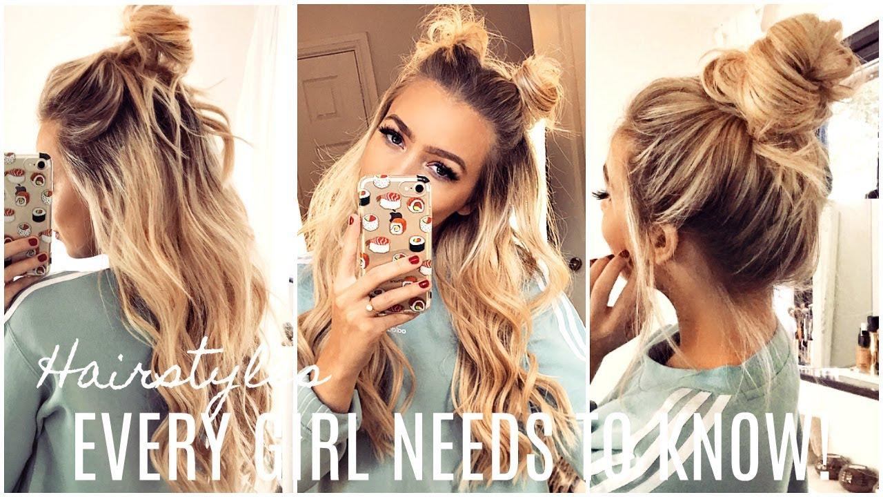 3 Easy Hairstyles For Short Hair: EASY Hairstyles EVERY GIRL Should KNOW! HAIR HACKS!