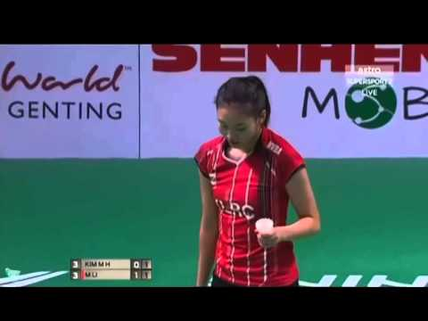 BADMINTON Purple League Muar City Petaling Jaya 2015 WS Kim Mun Hee vs Michelle Li