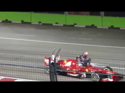 Mark Webber taxi ride from Alonso - Singapore