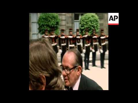 SYND 14 7 74 PRESIDENT OF COLOMBIA ARRIVES AT ELYSEE PALACE