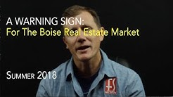 Danger Sign for Boise Housing Market