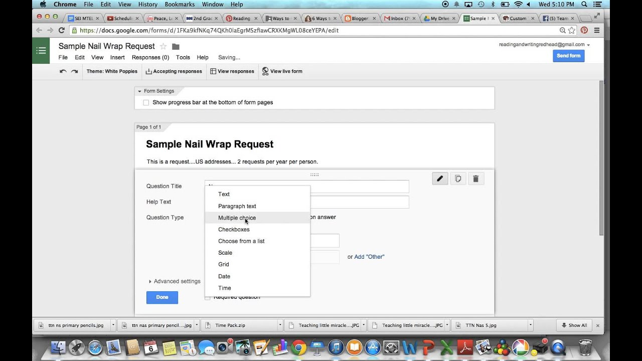 How to Create A Google Form for Sample Requests - YouTube