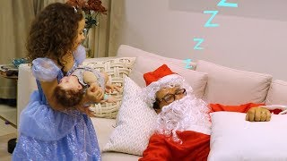 Valentina a boneca Cinderela gigante de verdade e o Papai Noel com o bebê reborn
