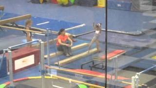 7 year old level 5 gymnast maddie larson tops training team bhs step outs
