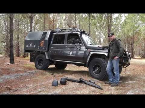VIDEO: 79 series landcruiser & Jeep Wrangler JK, 4 wheeling Australian