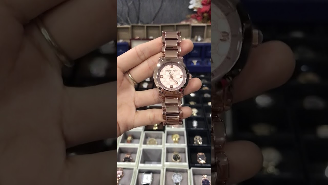 a48c52390fdc MICHAEL KORS Runway Rose Dial Ladies Watch MK3159 - YouTube