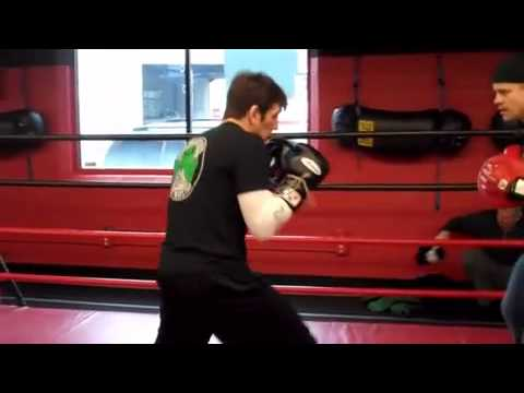 Boxing Coach Peter Welch Doing Mitt Work with Kenny Florian