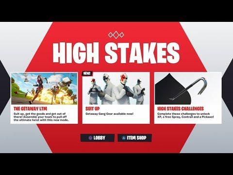 *NEW* HIGH STAKES EVENT in Fortnite! - NEW WILDCARD SKIN UPDATE! (Fortnite Getaway LTM Gameplay)