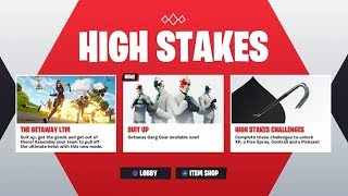 *NEW* HIGH STAKES EVENT in Fortnite! - NEW WILDCARD SKIN UPDATE! (Fortnite Getaway LTM Gameplay)