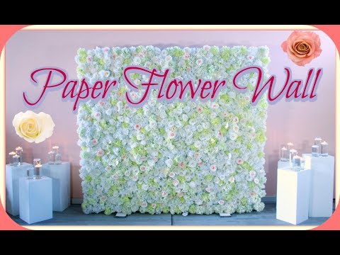 How to set up a 8x8 ft Paper Flower Backdrop for wedding or any event. thumbnail
